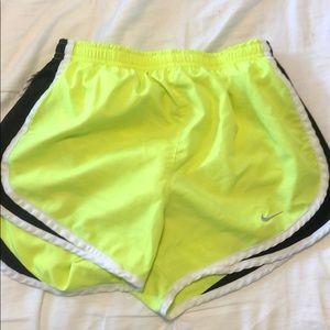 Neon nike shorts